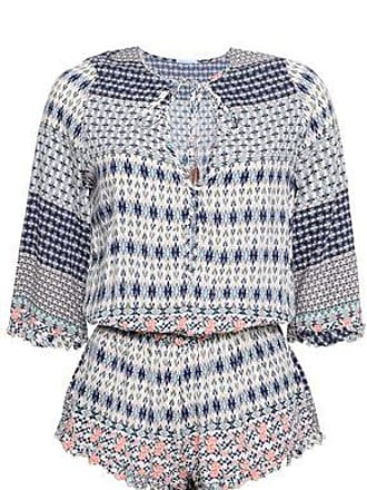 Eberjey Eberjey Woman Gathered Printed Voile Playsuit Midnight Blue Size M/L