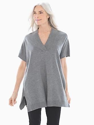 Soma Luxe Sweater Tunic, Heather Quartz, Size XXL