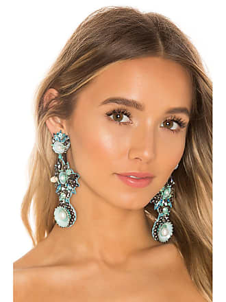 Ranjana Khan Ocean Gem Earring in Blue