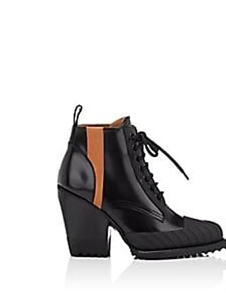 b1b72c9bb77c Chloé Womens Rylee Spazzolato Leather Ankle Boots - Black Size 11