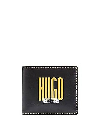 84397c58944 HUGO BOSS Leather logo wallet and fabric key ring gift set