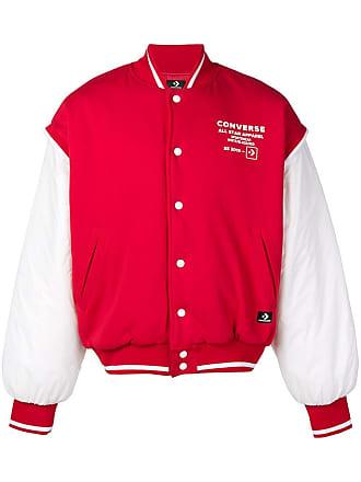 cd25da664e93 Converse logo print bomber jacket - Red