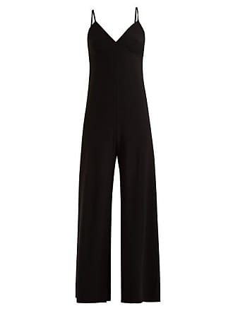 Norma Kamali Core Wide Leg Jumpsuit - Womens - Black 4511d1581f