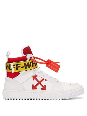Off-white Off-white - Logo Belt Strap High Top Leather Trainers - Mens 7732136d57