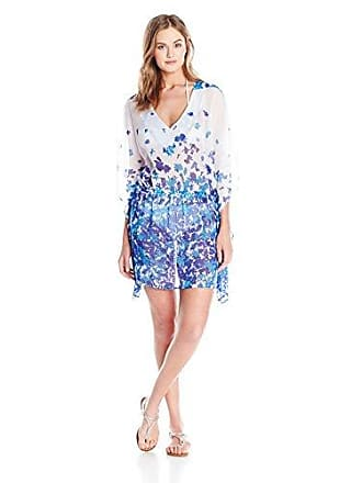 cb1089dbae5 Jones New York Womens Santorini V-Neck Tunic Cover Up, Royal, X-
