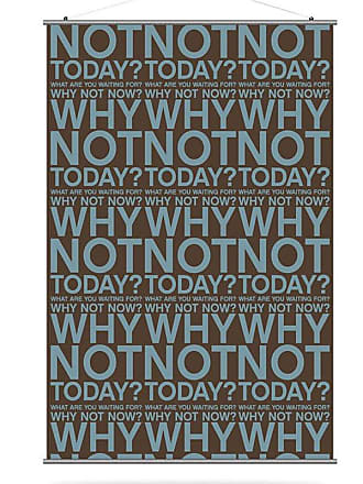 Inhabit Why Not Canvas Wall Art Cornflower and Chocolate - WNCFCH_1616C