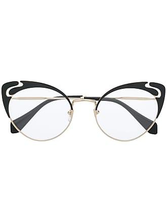 Miu Miu Eyewear cat eye glasses - Dourado