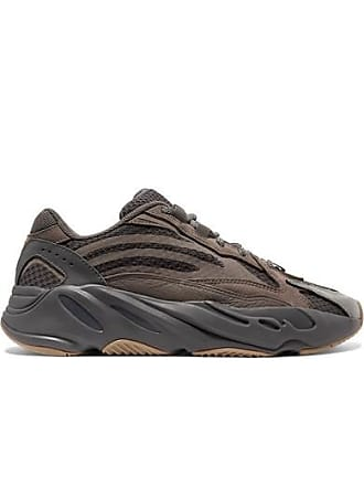 adidas Originals Yeezy Boost 700 V2 Suede And Mesh Sneakers - Taupe