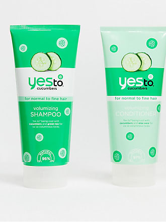 Yes To Yes to Cucumber Volumizing Shampoo and Conditioner Bundle (2 x 280ml)-No Colour