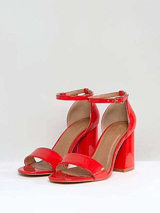 ad5a9321fd4 Asos ASOS HEARTACHE Wide Fit Heeled Sandals - Red