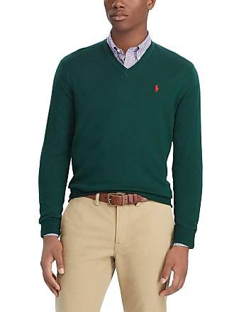 Polo Ralph Lauren Pull en laine mérinos col V slim fit Vert Polo Ralph  Lauren 80ce5b368239