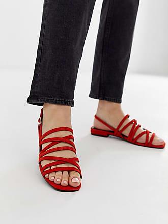 Vagabond Becky - Orange sandaler i mocka med hälrem