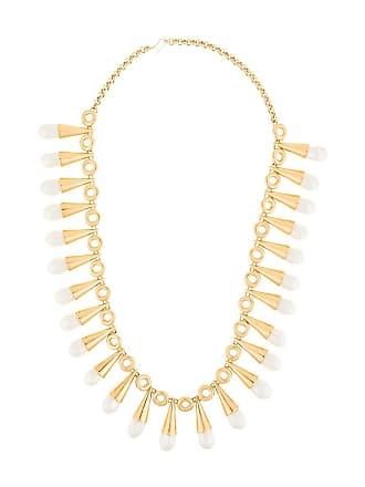 Chanel drop pearl necklace - Metallic