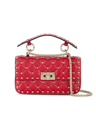 2419796fc8a Valentino Red Rockstud Spike Leather Cross Body Bag