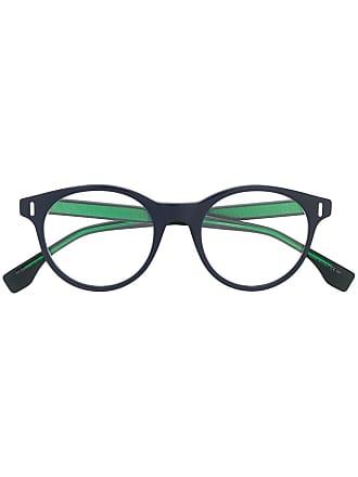 Fendi Armação de óculos redonda - Azul