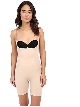 1f459249a6 Spanx Thinstincts Open-Bust Mid-Thigh Bodysuit (Soft Nude) Womens Jumpsuit