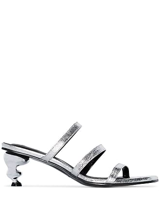 Yuul Yie silver gem 60 leather sandals - Metálico