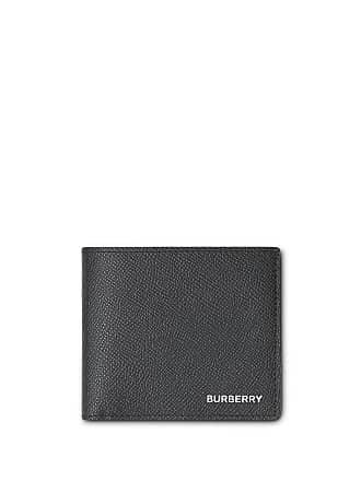 28a1dc9932ac7 Burberry Portemonnaie aus gekörntem Leder - Schwarz