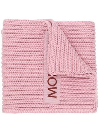 Moncler Cachecol com logo - Rosa
