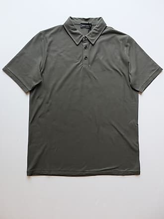 Roberto Collina Olivgrünes Kurzarm-Polo-Shirt - olive green | cotton | 46 - Olive green