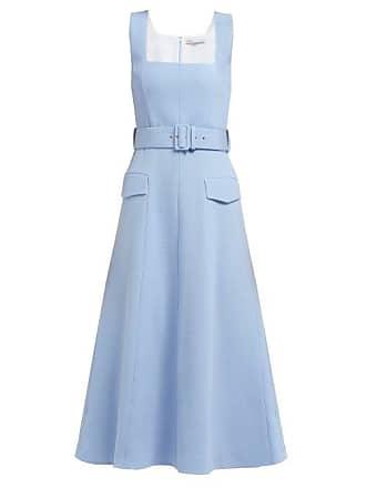 9e962d61abf Emilia Wickstead Petra Panelled Wool Crepe Dress - Womens - Light Blue