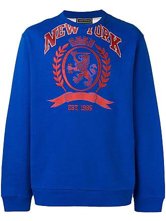 001601c2 Tommy Hilfiger contrast panel embroidered sweatshirt - Blue