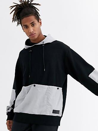 Topman LTD fleece hoodie in black