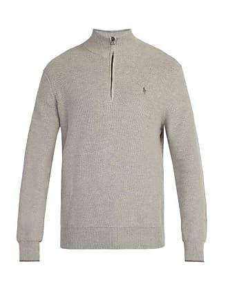 Polo Ralph Lauren Pull col montant en coton à maille gaufrée 6ec721c13fd