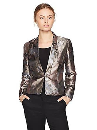 Kasper Womens Petite Kiss Front Floral Jacket, Antique Petal Multi, 4P