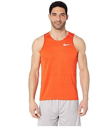 623a5319fd865 Nike Dry Miler Tank Top (Team Orange Mystic Red Reflective Silver) Mens