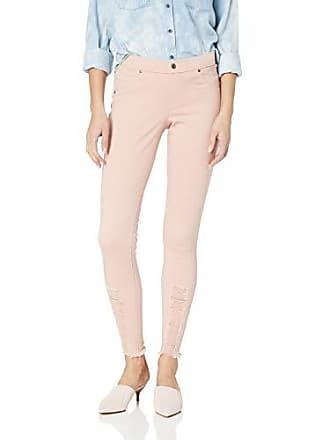 Hue Womens Fashion Denim Leggings, Assorted, Shredded Hem/Misty Rose, M