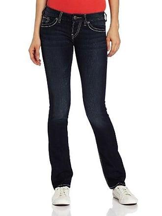 Silver Jeans Co Silver Jeans Womens Berkley Dark Wash Straight Leg Jean, Indigo, 36x34