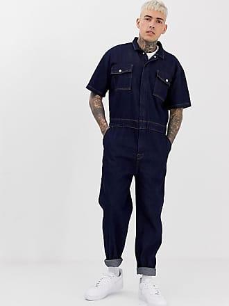 Asos denim boilersuit in indigo - Blue
