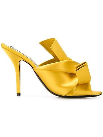 N°21 knot detailed mules - Yellow