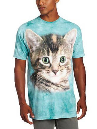 The Mountain Striped Kitten T-Shirt, 4X-Large, Teal
