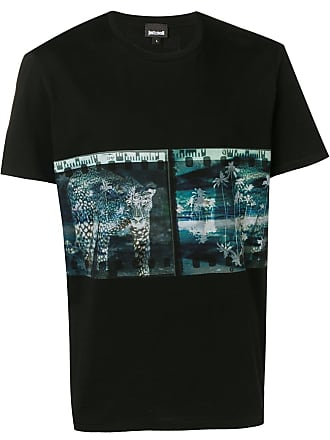 Just Cavalli graphic print T-shirt - Black