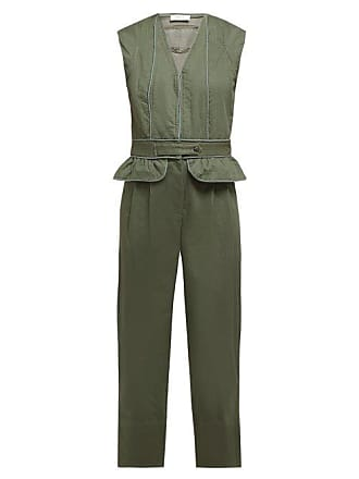 684e9deca06f Sea New York Romy Quilted Cotton Blend Jumpsuit - Womens - Khaki