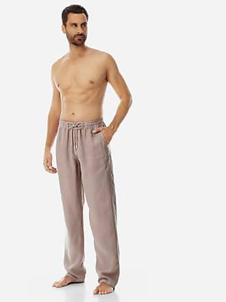 Vilebrequin Men Ready to Wear - Men Linen Pants Solid - PANT - PACHA - Beige - S - Vilebrequin