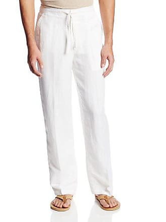 9829b39e Cubavera Drawstring Pant with Back Elastic Waistband, Bright White,  XX-Large x 32L