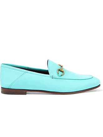 f5c17762e8d Gucci Horsebit-detailed Collapsible-heel Leather Loafers - Light blue
