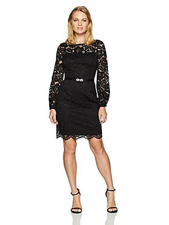 3f41dcc0 Ellen Tracy Womens Lace Dress with Bell Sleeves-Petite, Black 10P