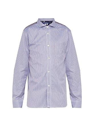 Junya Watanabe Panelled Cotton Shirt - Mens - White Multi