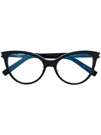 Saint Laurent Eyewear Armação de óculos gatinho - Preto