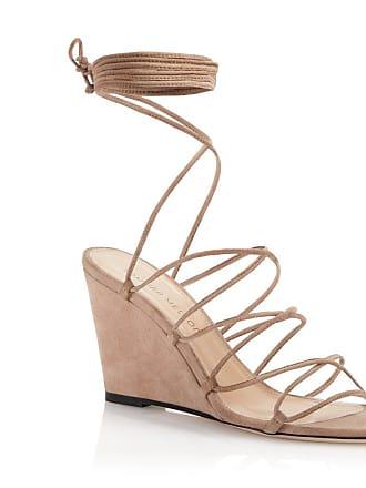 Tamara Mellon Allegra Beige Suede Sandals, Size - 36.5