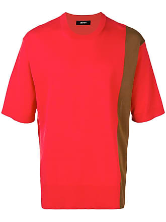 Zucca Blusa de tricô mangas curtas - Vermelho