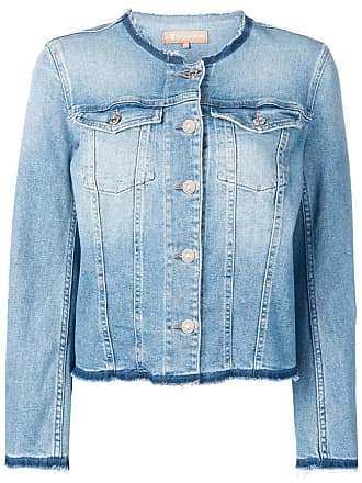 7 For All Mankind frayed denim jacket - Azul