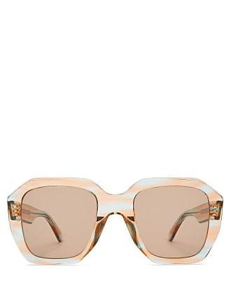 875bb533ffb Celine Oversized Acetate Sunglasses - Womens - Blue Multi