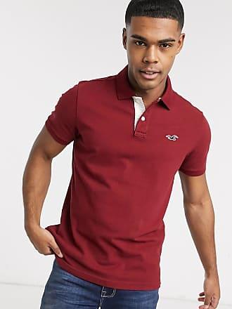 Hollister Klassisches, schmal geschnittenes Polohemd mit Logo in Burgunder-Rot