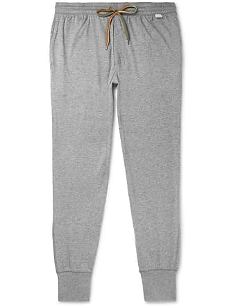 Paul Smith Slim-fit Tapered Mélange Cotton-jersey Sweatpants - Gray