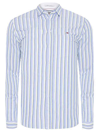 Tommy Jeans CAMISA MASCULINA ESSENTIAL STRIPE - AZUL